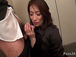 Mature lady Marina Matsumoto goes nasty at the office