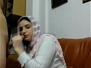 Hot Muslim arab girl with Big boobs gives sloppy blowjob and gets her ass fucked doggystyle