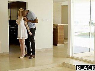 BLACKED Blonde Babysitter Fucks her Black Boss
