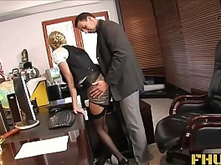 Fhuta Caught with finger pussy she gets face fucked by the boss