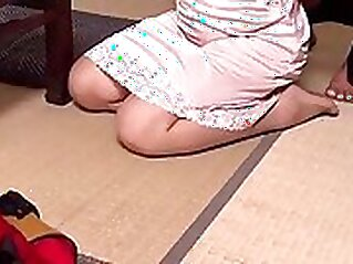 BBW tatto mother is fucking her slave