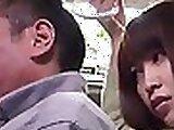 Beautiful bus japanese teen fisted hard
