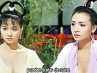 Chinese booty babe horny & masturbates